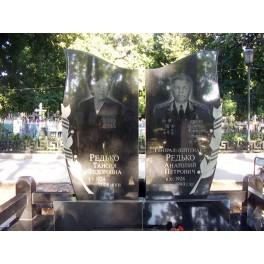 Комплекс памятников на две могилы